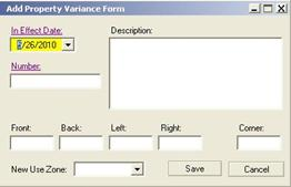 Property Variance Form